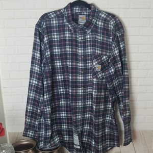 Flannel  Carhartt Button Down Mens Shirt XL